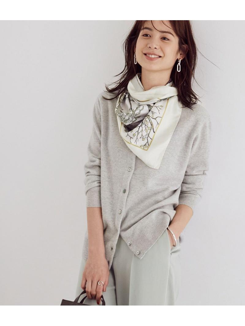 jun_beauty_0926 初売り ROPE' レディース ニット ロペ Rakuten Fashion SALE 10%OFF 2WAY RBA_E 送料無料 グレー ピンク ブラウン カシミヤブレンドクルーカーディガン カーディガン ホワイト 送料無料でお届けします