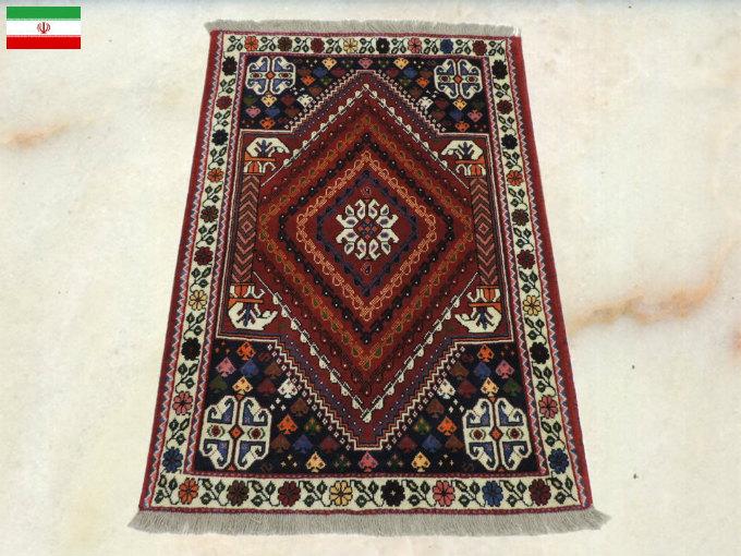 ペルシャ絨毯 カーペット ウール100% 手織り高級 ペルシャ絨毯の本場 イラン シラーズ産 玄関マットサイズ 144cm×102cm【本物保証】