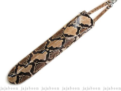 パイソン (チューニングキーポケット付)蛇革(パイソン)製【smtb-m】 JAJABOON スリム ドラムスティックケース