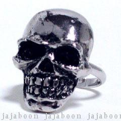 ユニセックス フリーサイズ JAJABOON メール便OK 注文後の変更キャンセル返品 髑髏指輪 激安価格と即納で通信販売