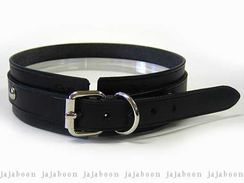 29a78f9669b89 JAJABOON leather ベルトチョーカー black leather ( leather )-