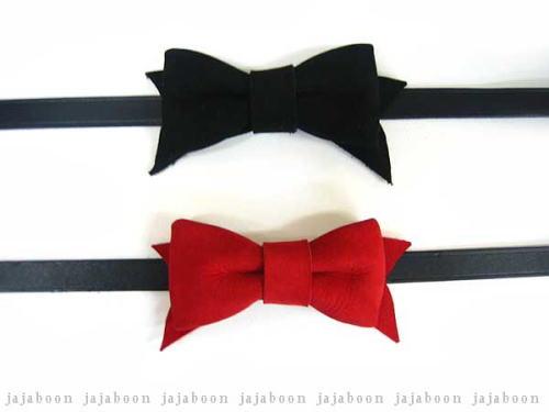 蝶ネクタイみたいなリボンチョーカー 新商品 2重巻きでブレスレット JAJABOON リボンチョーカー 製 本革 今ダケ送料無料 レザー