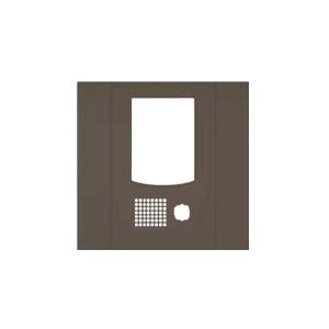 ★受注生産品★【アイホン】DASH WISM カメラ付集合玄関機ユニット用パネル(ブラウン)[VHW-3736P-B]