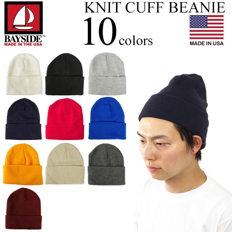 e113b780640 Jalana  Bayside-BAYSIDE nitkafubirney Navy (United States-made KNIT CUFF BEANIE  knit hat)