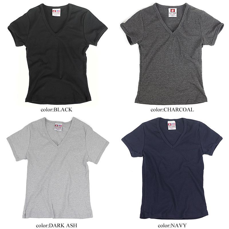 edba0c34 ... Bay side BAYSIDE V neck T-shirt (V-NECK TEE Lady's plain fabric ...