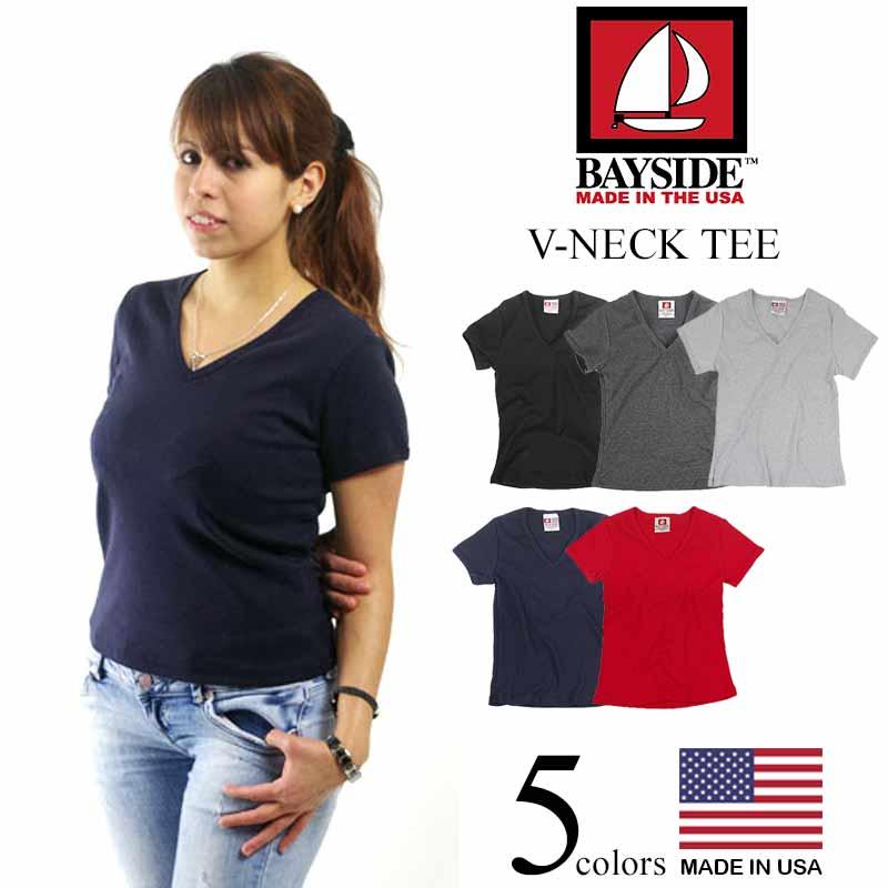 9ef89765 Jalana: Bay side BAYSIDE V neck T-shirt (V-NECK TEE Lady's plain ...