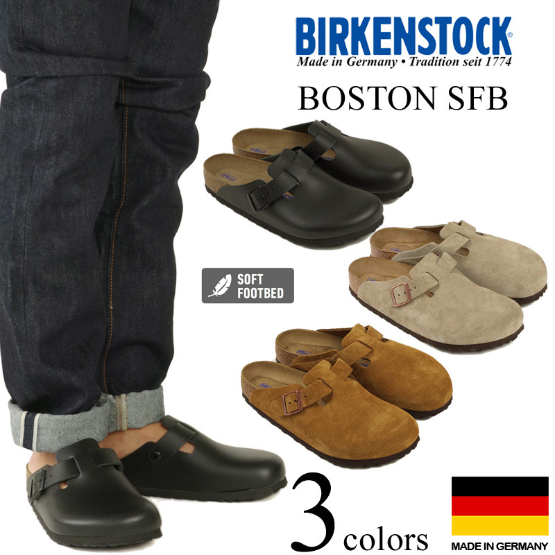 200bb932399 ビルケンシュトック BIRKENSTOCK Boston software foot bed (men s   Lady s BOSTON SFB  normal Wise regular fitting wide common width sandals)
