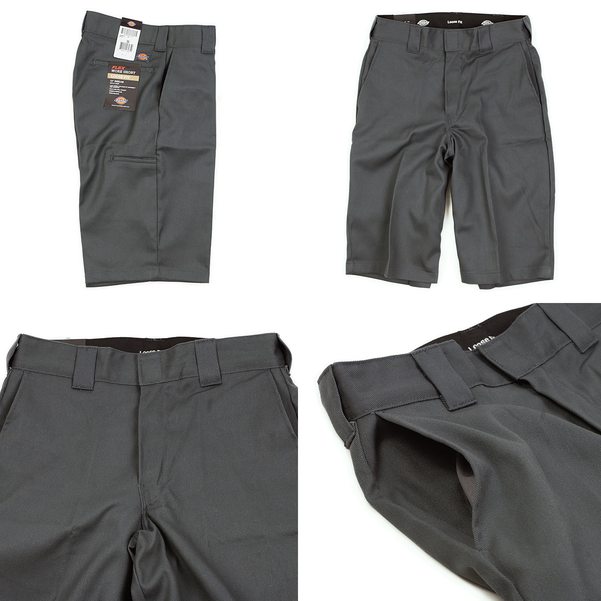 price reduced perfect quality baby Dickies Dickies 42283F flextime 13 inches cell phone pocket work shorts  (Chino shorts loose fit short pants stretch)