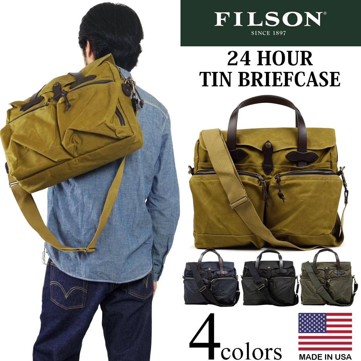 フィルソン FILSON 24アワー ティン ブリーフケース (アメリカ製 米国製 24 HOUR TIN BRIEFCASE ショルダーバッグ ビジネスバッグ)