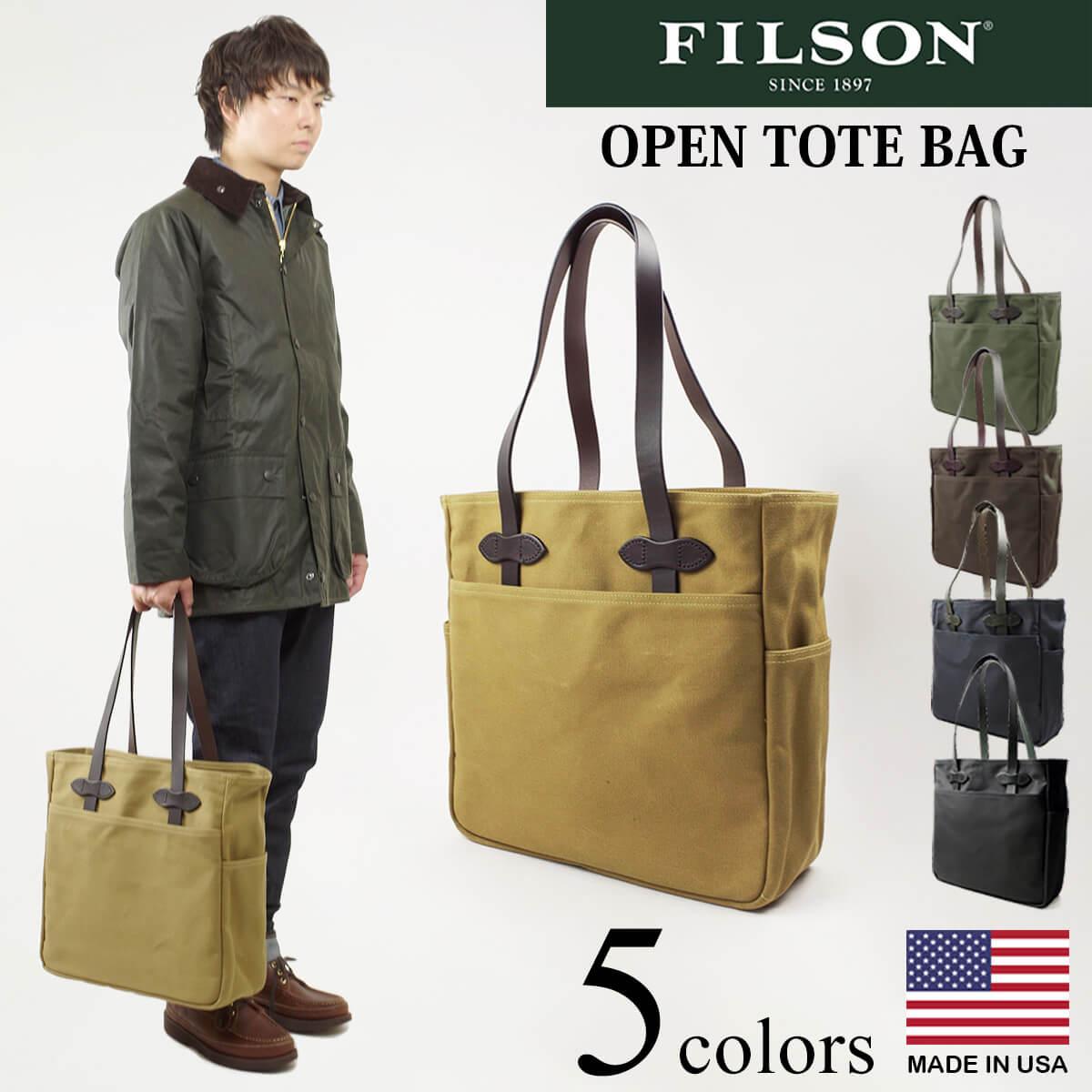 送料無料 メンズ マート アメリカ製 フィルソン FILSON オープン Seasonal Wrap入荷 BAG OPEN バッグ トート TOTE 米国製