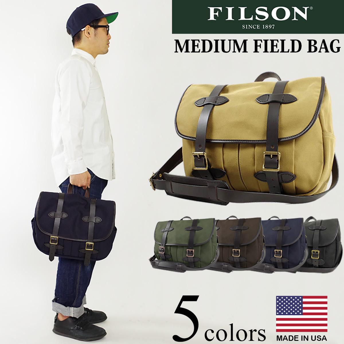 フィルソン FILSON ショルダーバック ミディアム フィールド バッグ (アメリカ製 米国製 MEDIUM FIELD BAG ショルダーバッグ)