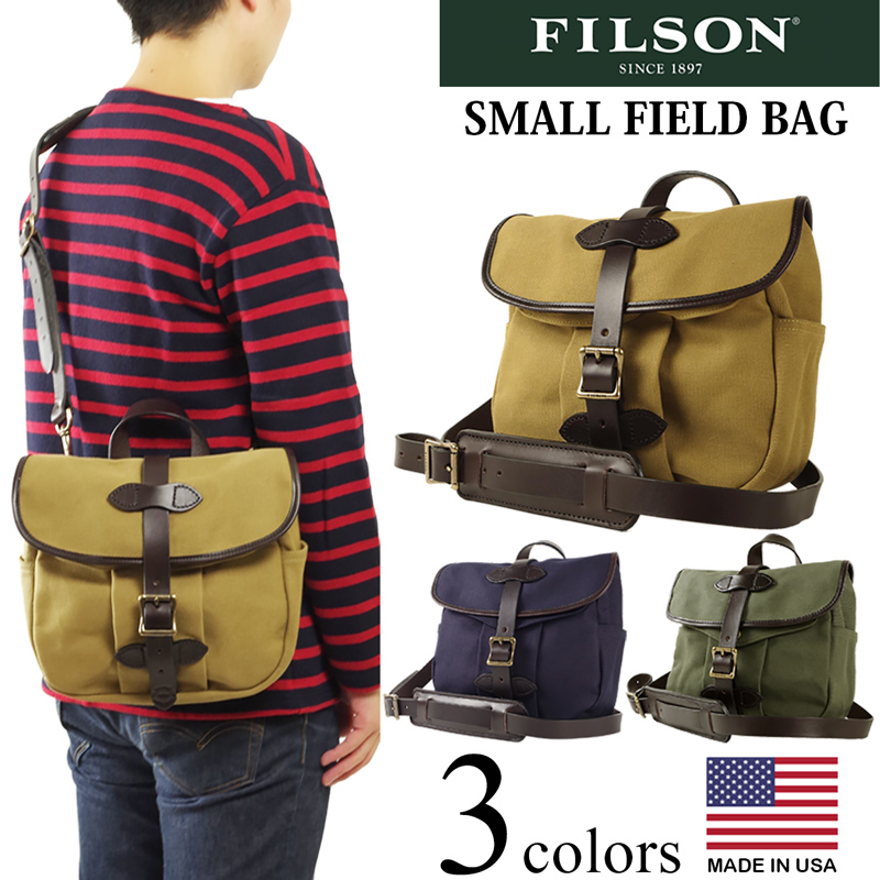 Filson Shoulder Bucks Lacing Braid Field Bag Small Made In The United States