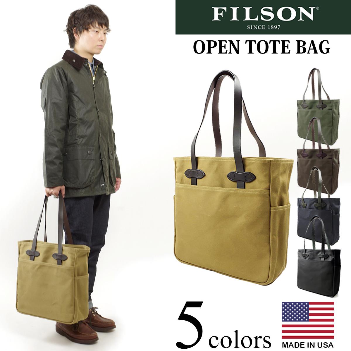 フィルソン FILSON オープン トート バッグ (米国製 OPEN TOTE BAG)