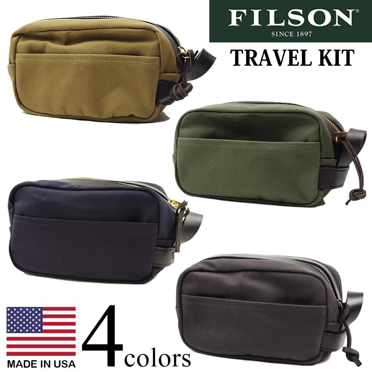 フィルソン FILSON トラベル キット (米国製 TRAVEL KIT ポーチ)