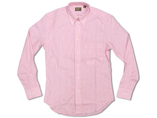 ギットマン ブラザーズ Gitman Bros. ギンガムチェック ボタンダウンシャツ ピンク/ホワイト (米国製 GINGHAM CHECK B.D. SHIRT 長袖)