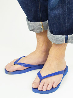 6889093ed Hawaiian announcers havaianas beach sandal top marine blue (the TOP B sun)