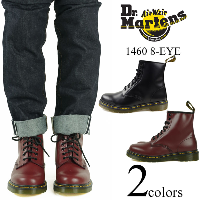Dr. Martens Dr. Martens 1460 8 hole boots black (8 EYE BOOT lace-up boots  work boots combat boots) 152edd086e4e