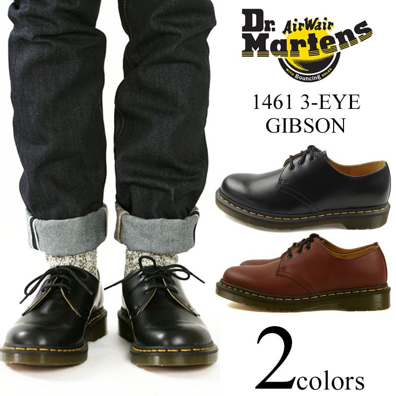 Dr. Martens Dr. Martens 1461 3 Hall Gibson shoes black (postman 3 EYE  GIBSON SHOE shoes) 0fc4c292d78