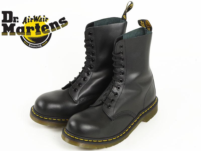 ドクターマーチン Dr. Martens 1919 10ホール ブーツ スチールトゥ ブラック (10EYE BOOT 編み上げブーツ メンズ レディース)