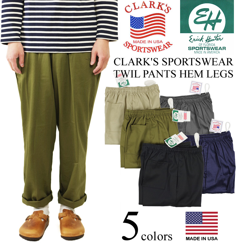 Kulaki sportswear (Eric hunter) twill easy underwear (baggy pants chino  pants CLARK' S ERICK HUNTER made in the United States made in the United