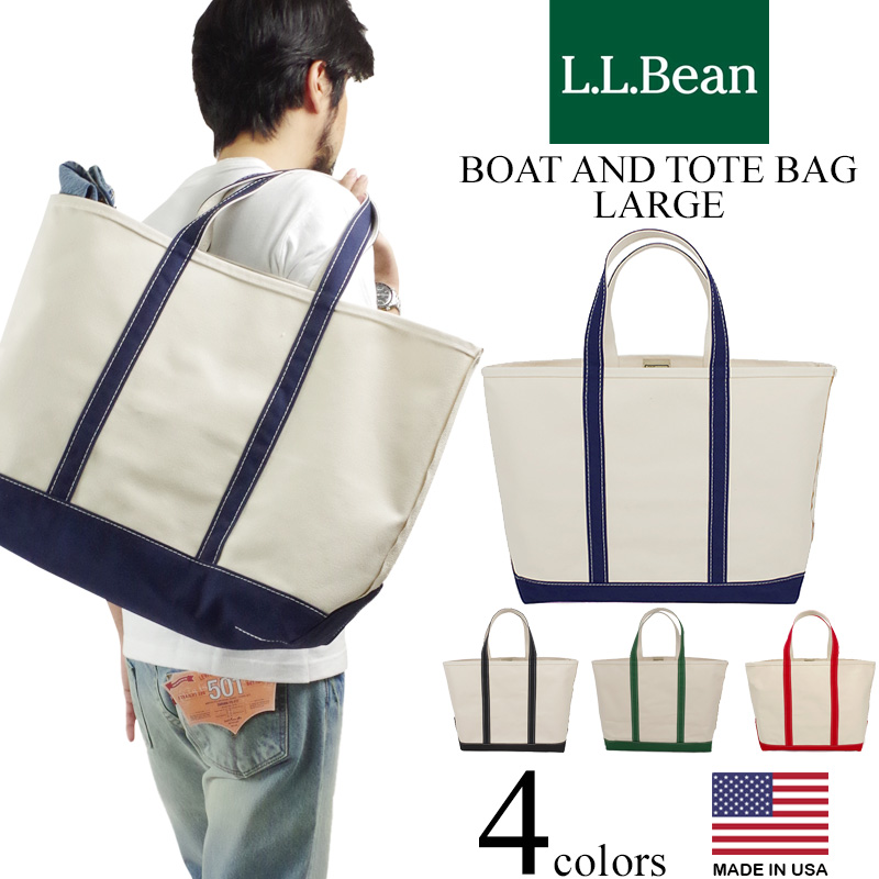 L Bean Boat And Tote Bag Large Made In Usa Canvas Thoth The United States
