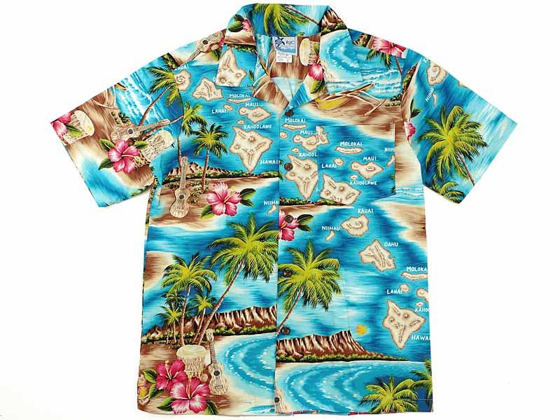 46c627c2 Jalana: Robert J Clancy RJC Boys short sleeves Hawaiian shirt #203C-822  turquoise Hawaiian product made in (cotton open collar Lady's made in the  ROBERT J. ...