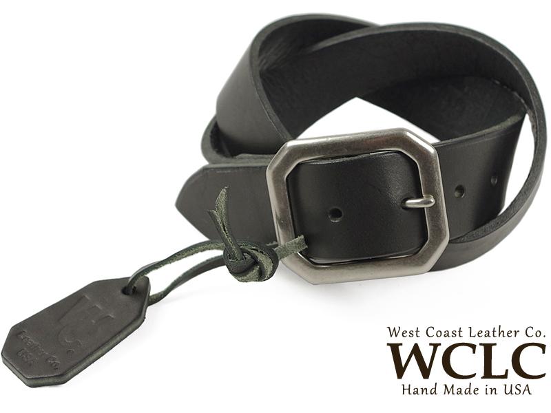 WCLC ウエストコーストレザーカンパニー ヘビーサドルレザーベルト BIGSIZE ブラック 米国製 (大きいサイズ 4.5~5mm厚 West Coast Leather Company MADE IN USA)