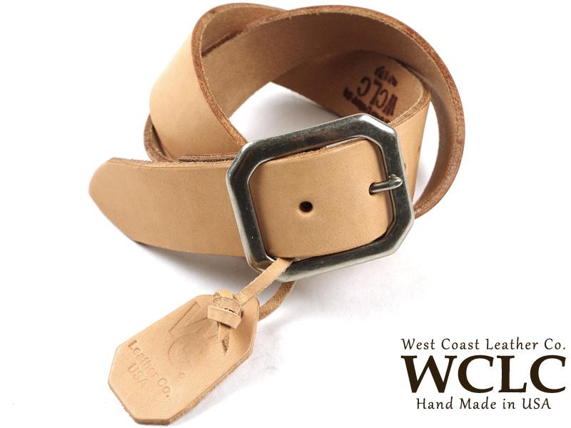 WCLC ウエストコーストレザーカンパニー ヘビーサドルレザーベルト BIGSIZE タン 米国製 (大きいサイズ 4.5~5mm厚 West Coast Leather Company MADE IN USA)