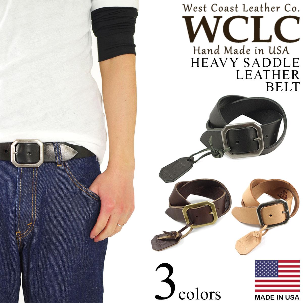 WCLC ウエストコーストレザーカンパニー ヘビーサドルレザーベルト アメリカ製 米国製 (4.5~5mm厚 West Coast Leather Company MADE IN USA)