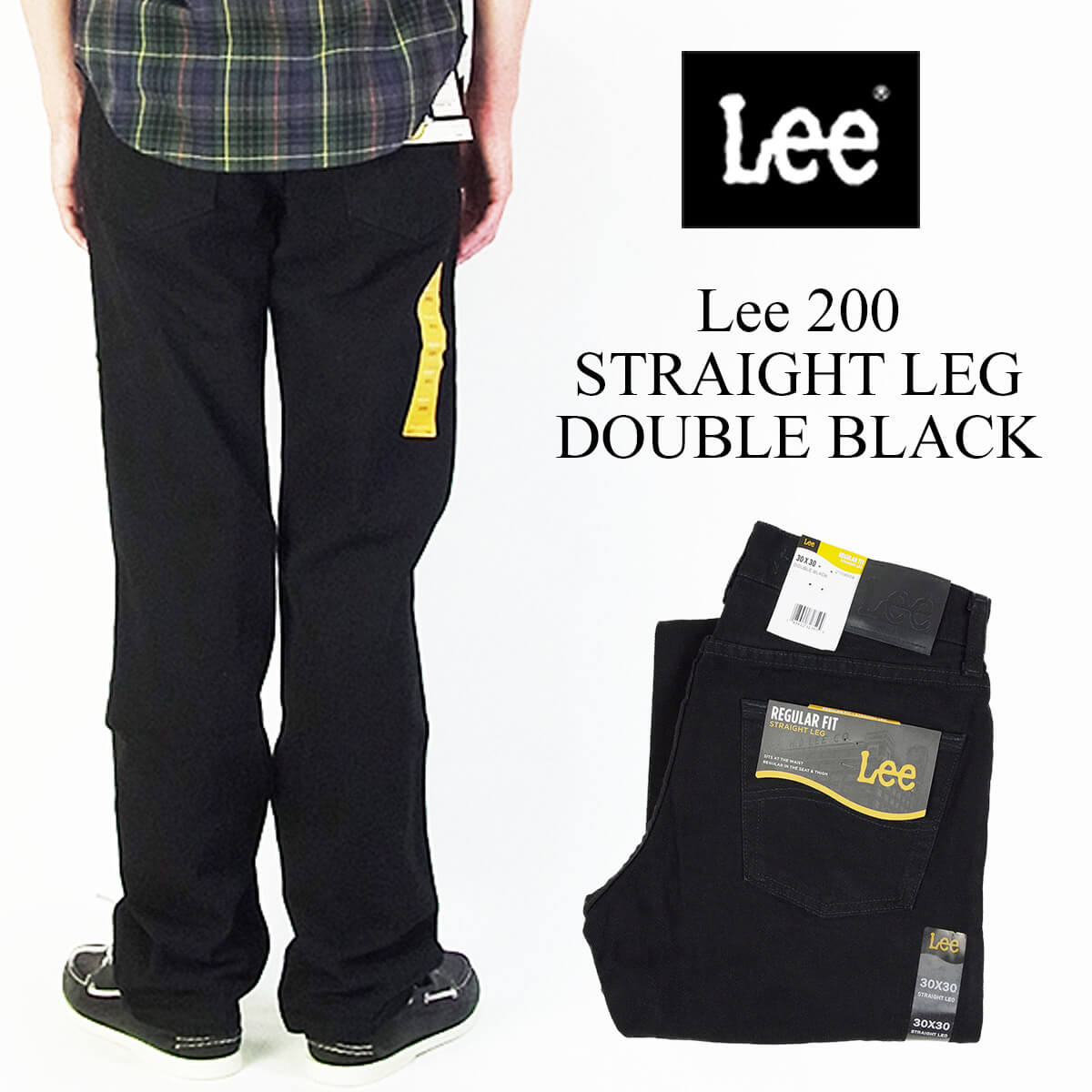 d5f578dbe71 Lee Lee  200 straight jeans double black (STRAIGHT LEG JEAN DOUBLE BLACK)