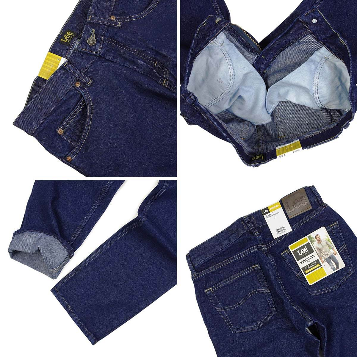1ac396b3 ... Lee Lee #200 straight jeans pepper pre-wash □ hemming for free □ ...