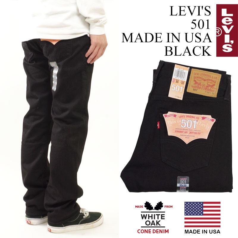 81b017bc570 Levis LEVI' S 501 MADE IN USA black (LEVIS one wash corn denim white ...