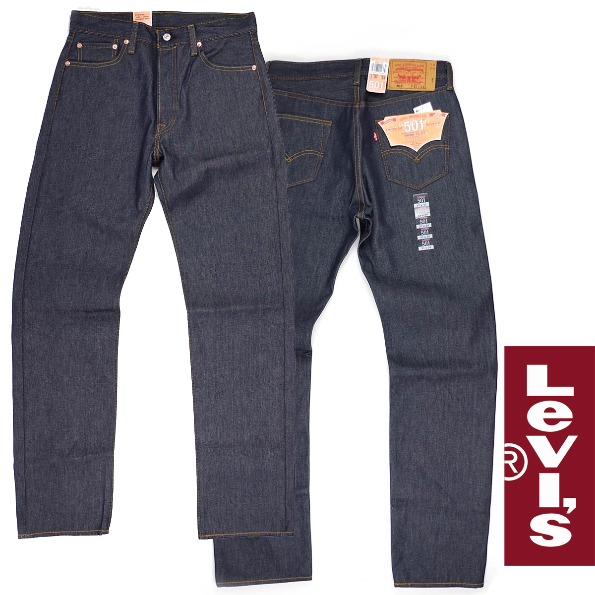 ce3b56a1fd3 Levis LEVI'S 501-0000 original button fried food straight jeans rigid STF □  bandana present ...