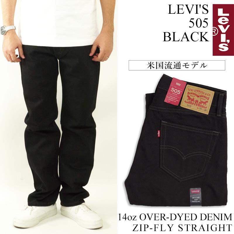 585b36090a1 Levis LEVI' S 505-0260 zip fried food straight jeans black □ bandana  present ...