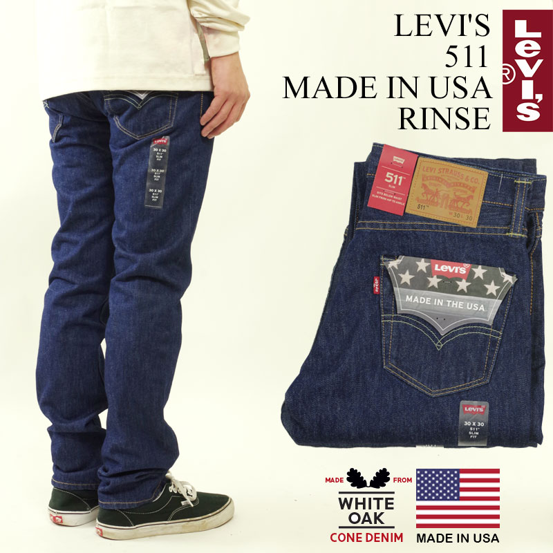 67402a621a5ed0 Levis LEVI' S 511 MADE IN USA conditioner (LEVIS one wash corn denim white  ...