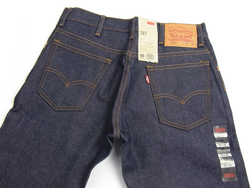Levi's LEVI's 517-0217 original bootcut jeans rigid (shrink-resistant raw denim USA lines)