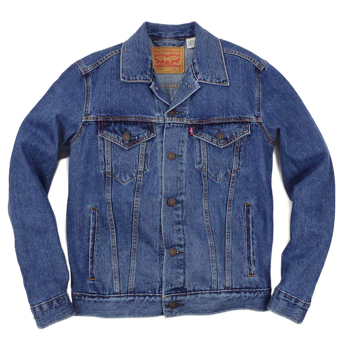 8ceec75a912d79 Levis LEVI' S #72334 denim jacket the trucker medium stone wash (THE TRUCKER  ...