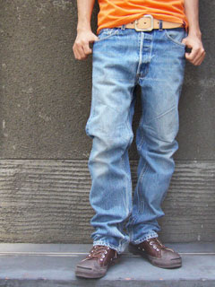 Levi's LEVI's USED 501 West 62-72 cm (levis denim jeans blue jeans distressed pants)