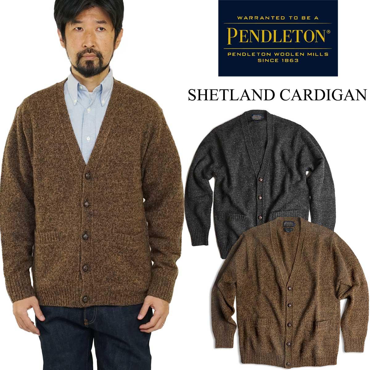 ペンドルトン PENDLETON ウール セーター シェットランド カーディガン(シェットランド CARDIGAN)