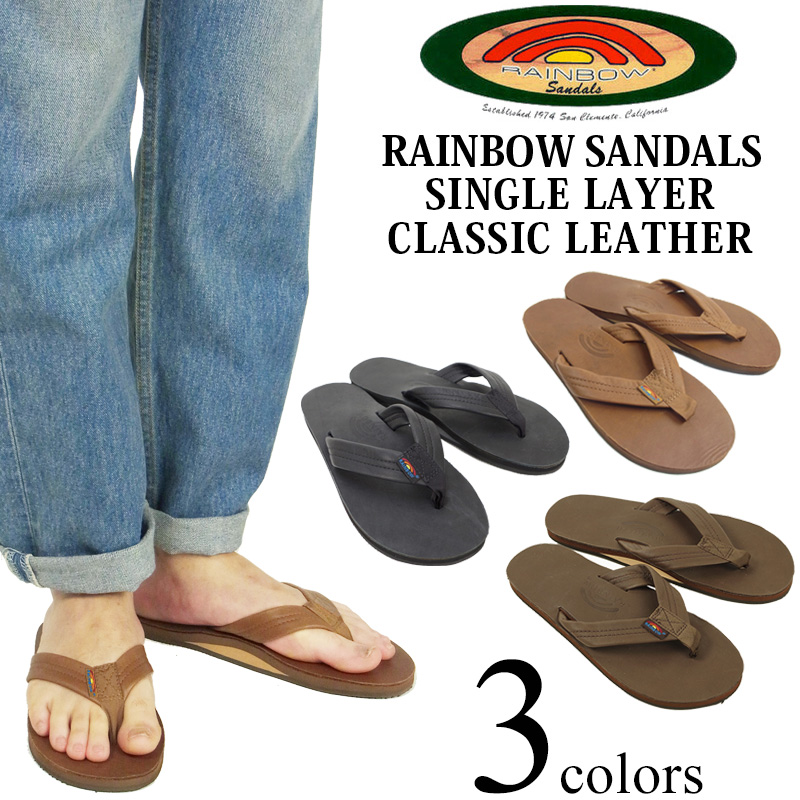 "Rainbow Wmn/""s Single Layer 301alts Leather  Arch Support  expresso"