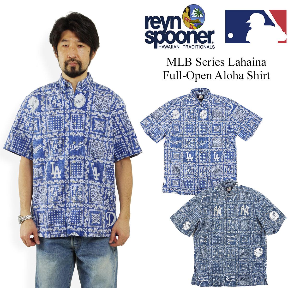 372253ec レインスプーナー REYN SPOONER short sleeves Hawaiian shirt full opening Major  League formula model Lahaina □ bandana present □ (MLB LAHAINA)