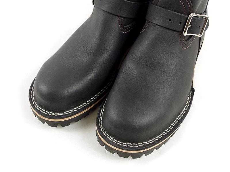 "Wesco #7700100 Wesco Engineer Boots boss 11 ""black スティールトゥ ( BOSS 11"" Steel toe )"