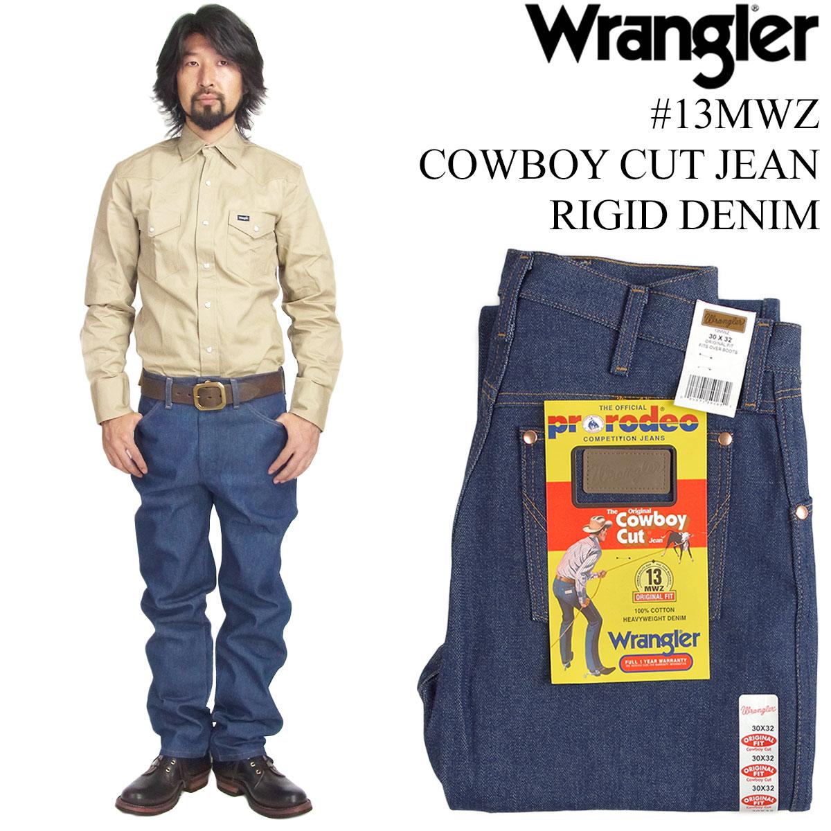 3da6e1c4 Jalana: Wrangler Wrangler 13MWZ cowboy cut Gene rigid □ hemming for free □ (COWBOY  CUT JEAN RIGID raw denim) | Rakuten Global Market