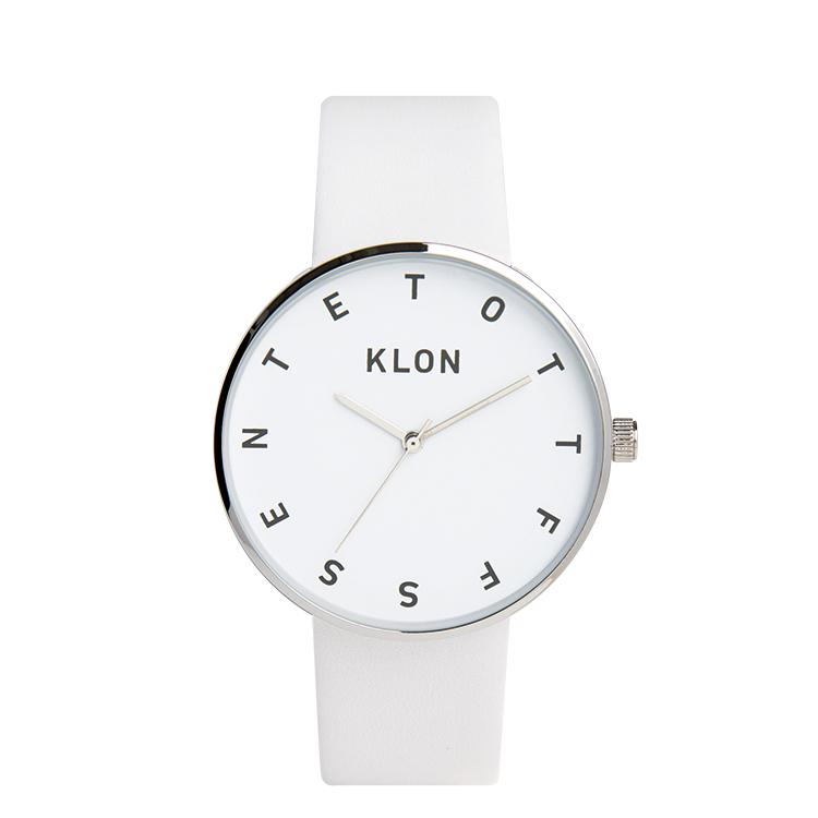 KLON 腕時計 時計 ALPHABET TIME WHITE 40mm