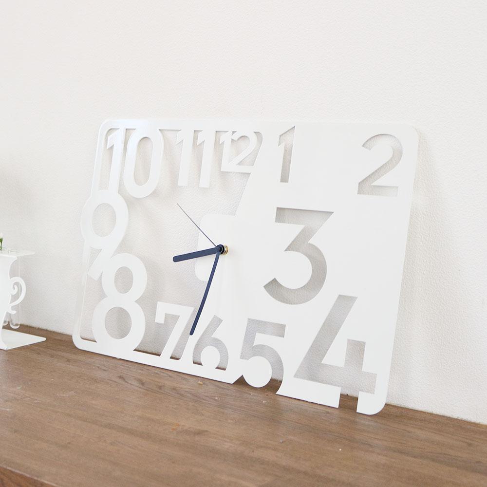PutTime 掛け時計 壁掛け時計 デザイナーズ 北欧おしゃれモノトーン
