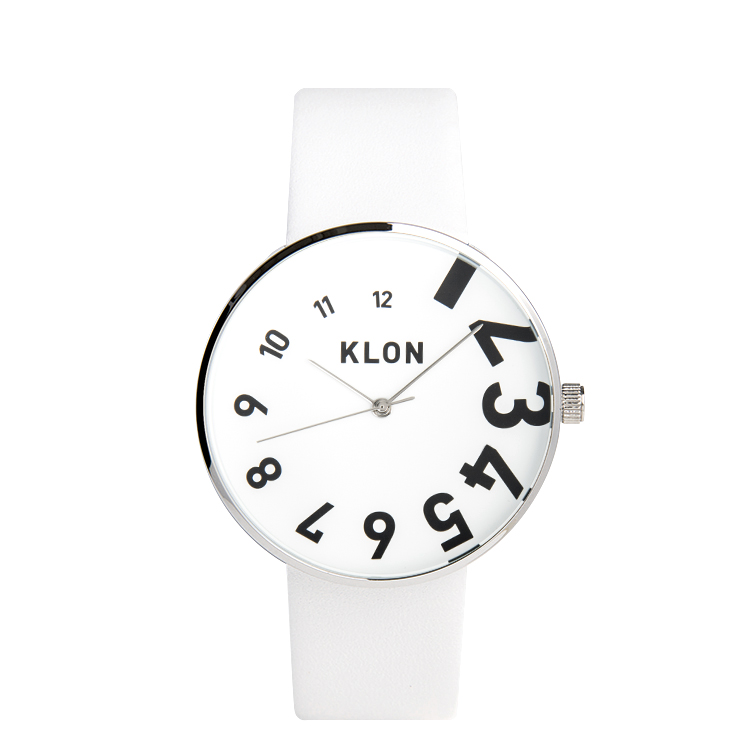 『EDDY TIME WHITE 40mm』KLON クローン 腕時計 シンプル おしゃれ 個性的 かわいい ギフト 記念日 誕生日