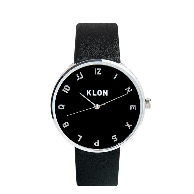 『MOCK NUMBER BLACK 【BLACK SURFACE】 Ver.SILVER 40mm』KLON クローン 腕時計 シンプル おしゃれ 個性的 かわいい ギフト 記念日 誕生日