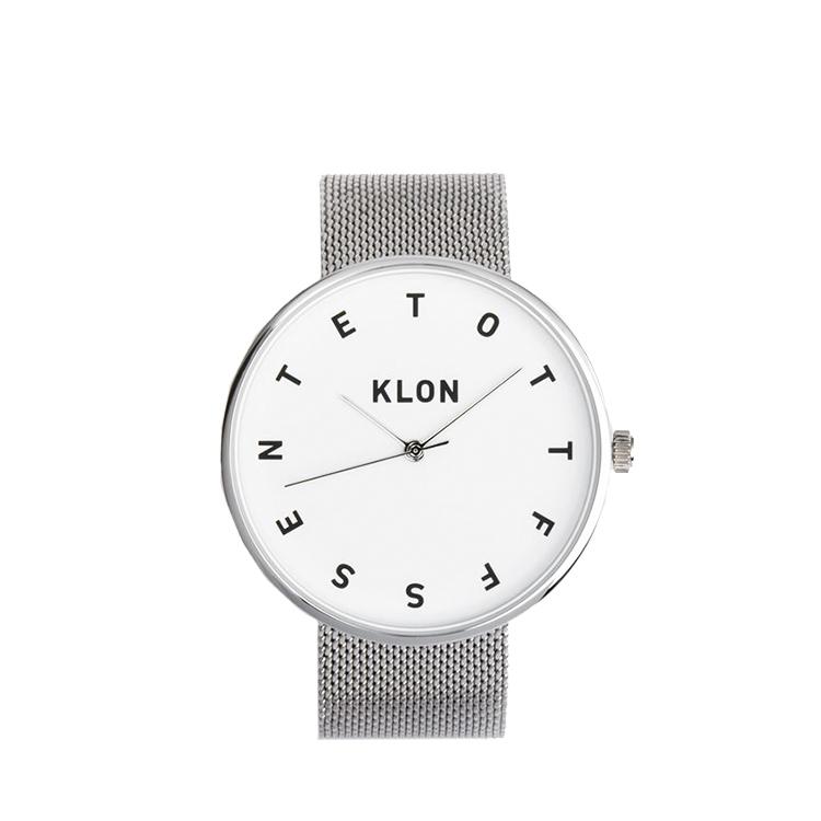 meet 99529 e04e8 KLON 腕時計 時計 ALPHABET TIME -SILVER MESH- 40mm|インテリア雑貨 jam store