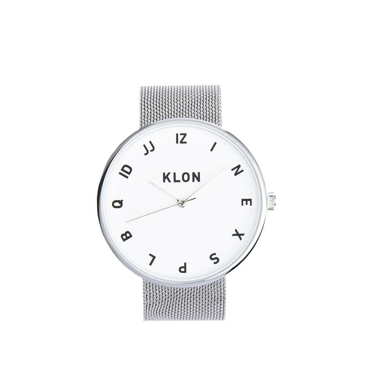 KLON 腕時計 時計 MOCK NUMBER -SILVER MESH-