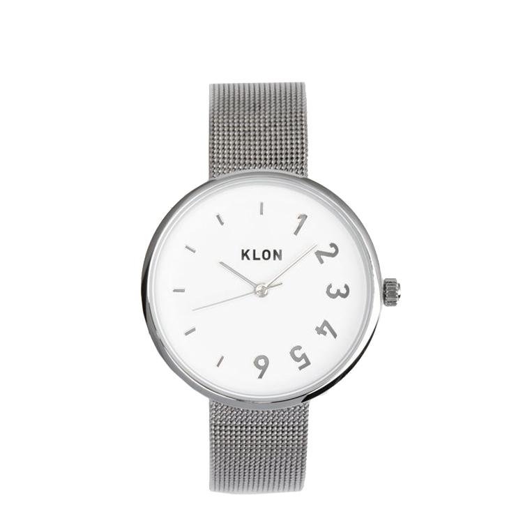 『CONNECTION DARING FIRST -SILVER MESH-』KLON クローン 腕時計 ペアウォッチ 時をわけ合う カップル お揃い さりげない シンプル メッシュベルト ギフト 記念日 誕生日